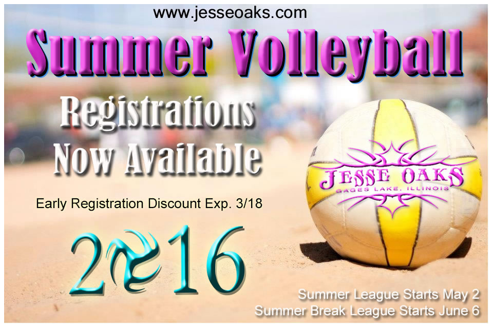 Jesse Oaks Summer Volleyball 2016 Graphic Info