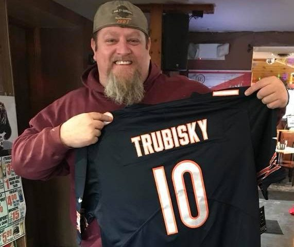Larry scored this sweet Bears Jersey!