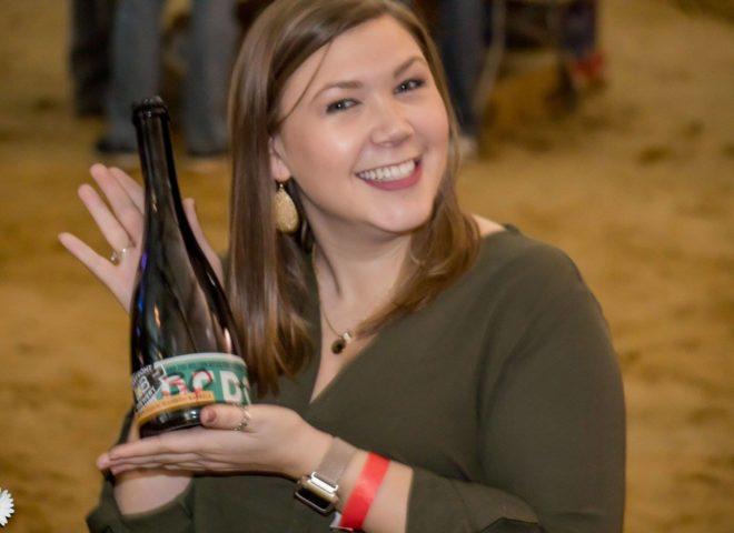 Jan 2018: Lake Front Brewery raffle winner during Craft Brew Fest at Jesse Oaks