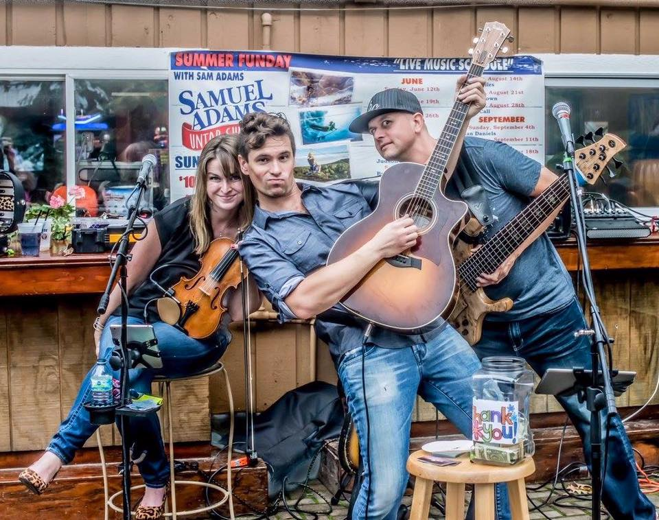 Judson Brown Band performing in the Jesse Oaks Beer Garden - Summer 2017