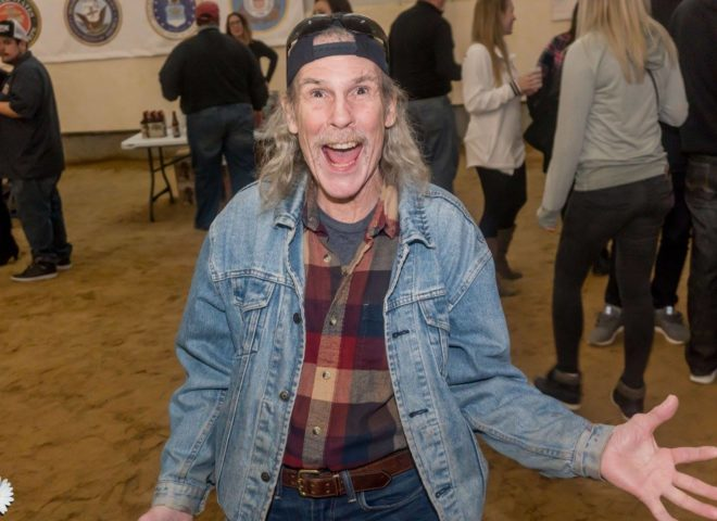 January 2018: Jackyl in his natural element at Craft Brew Fest at Jesse Oaks