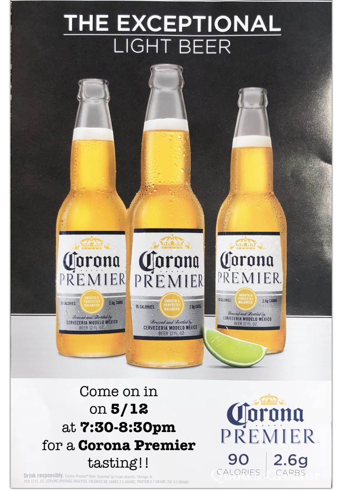 Corona Premier Tasting