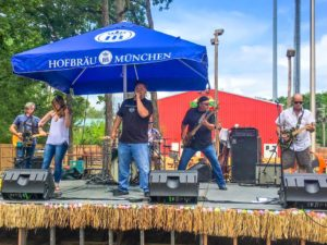 July 2016: Mellencougar at Jesse Oaks. The band performed during the 2016 Customer Appreciation Luau.