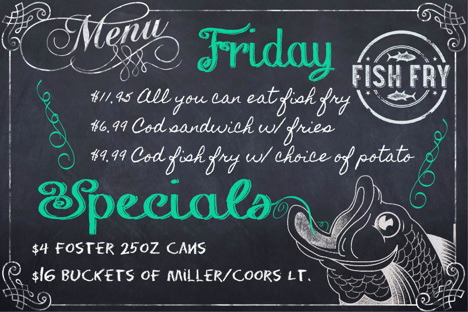 Friday Specials at Jesse Oaks