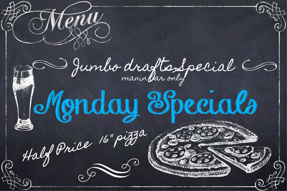 Monday food specials at Jesse Oaks