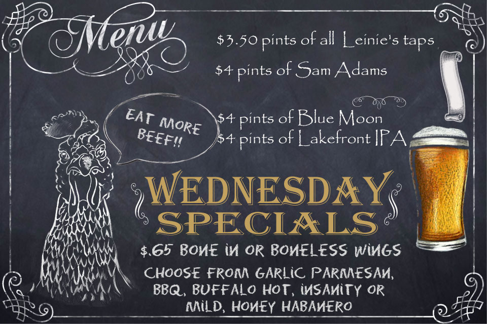 Wednesday Food & Drink Specials at Jesse Oaks