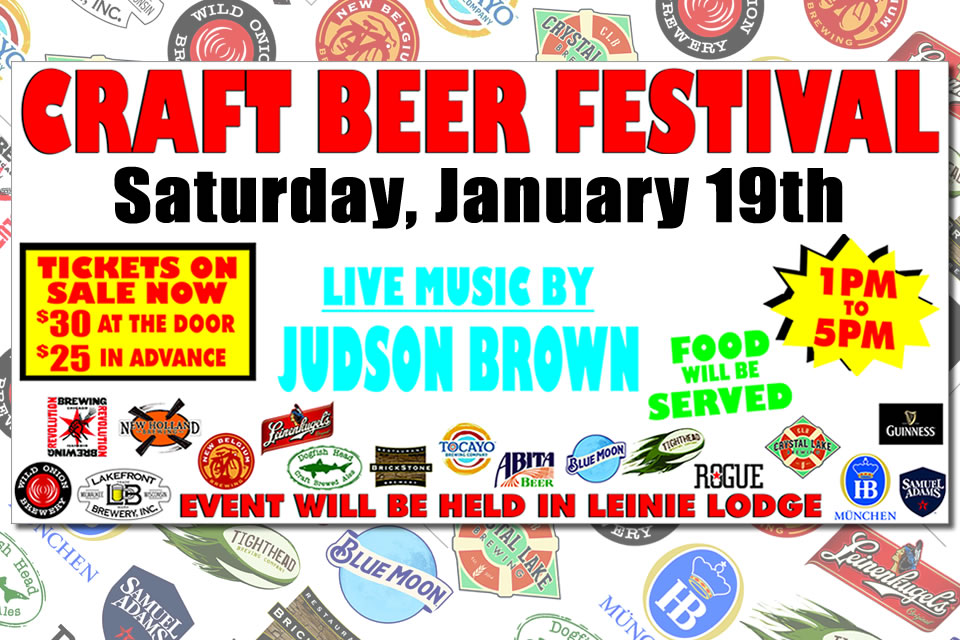 Craft Brew Fest - Jan 19, 2019 at Jesse oaks, 1 pm to 5 pm