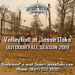 Fall 2019 Season Volleyball Leagues at Jesse Oaks start in September and go through November for the Fall 2019 OUTDOOR season.