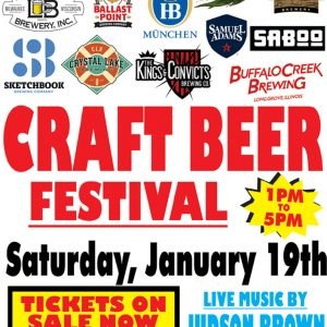 Craft Brew Fest - Jan 19, 2019 at Jesse Oaks, 1 pm to 5 pm with musical guest Judson Brown