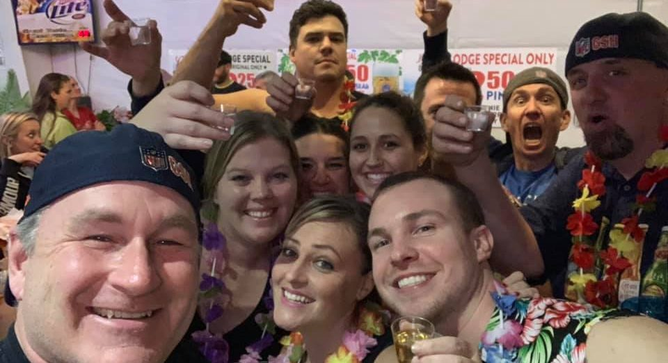 Team Perky Coconuts during our Beverage in hand tournament - November 2018
