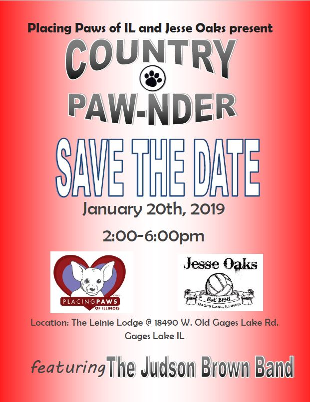 Country Paw-nder at Jesse Oaks with Placing Pets of Illinois. January 20, 2019.