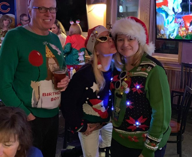 December 2018: Ugly Christmas Sweater Party at Jesse Oaks