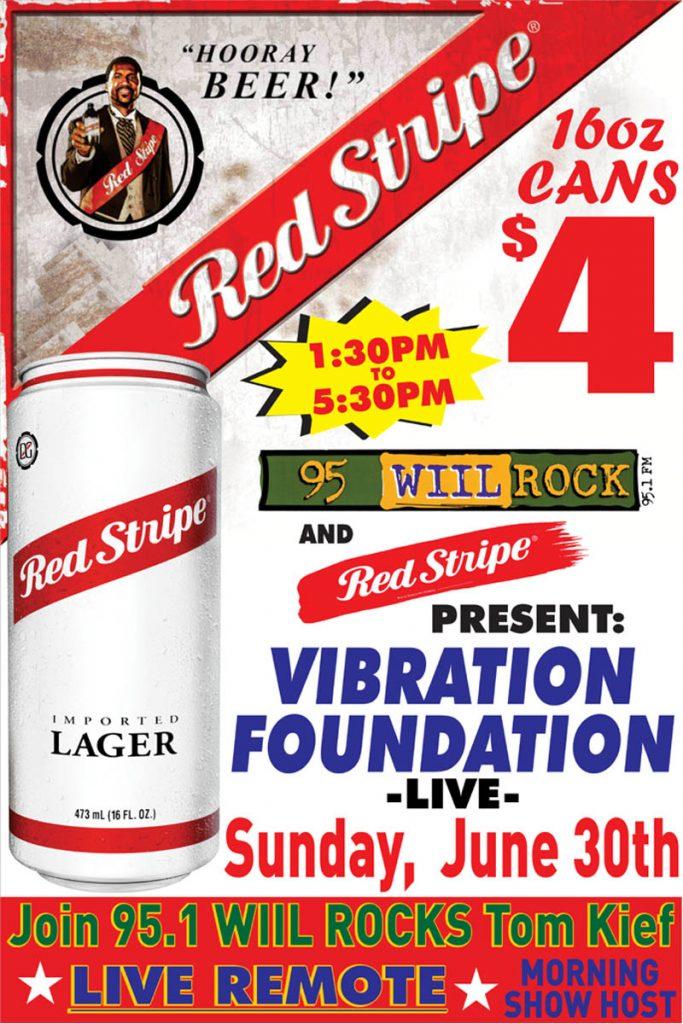 june 30 red strip 95 WIIL Rock Vibration Foundation - June 30 2019