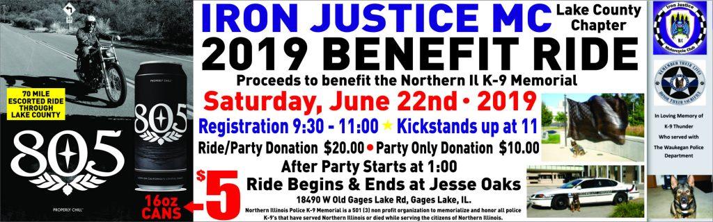 June 22, 2019 - Iron Justice MC 2019 Benefit Ride at Jesse Oaks