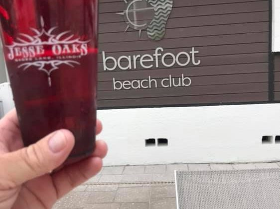 May 2019 - Red Jesse Oaks cup spotted at Barefoot Beach Club in Florida