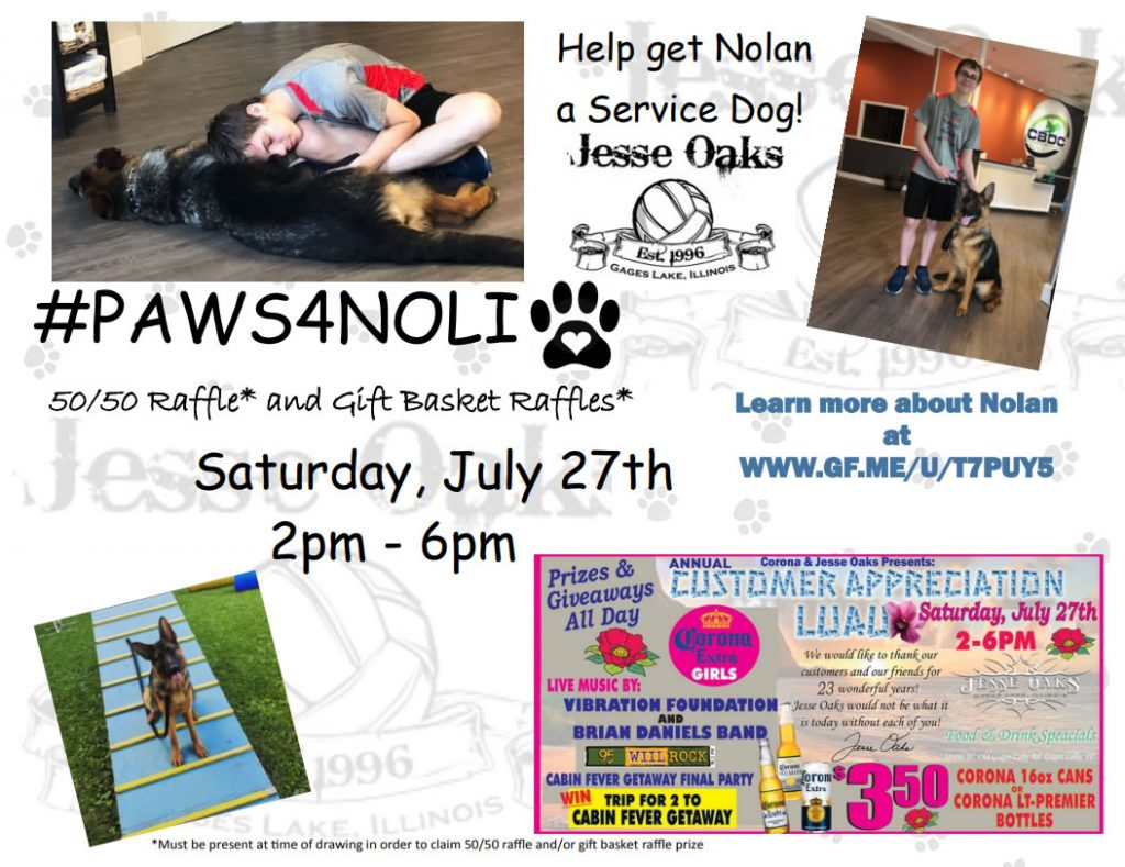Saturday, July 27, 2019 from 2pm to 7pm.