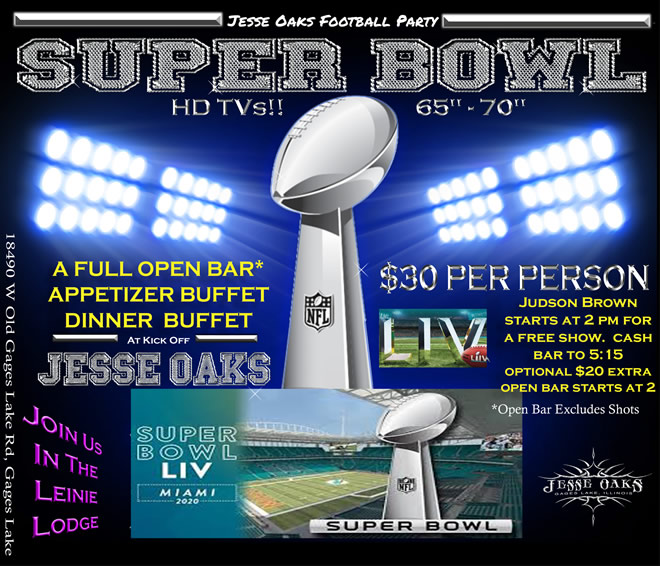 Sunday, February 2, 2020 - Football Party