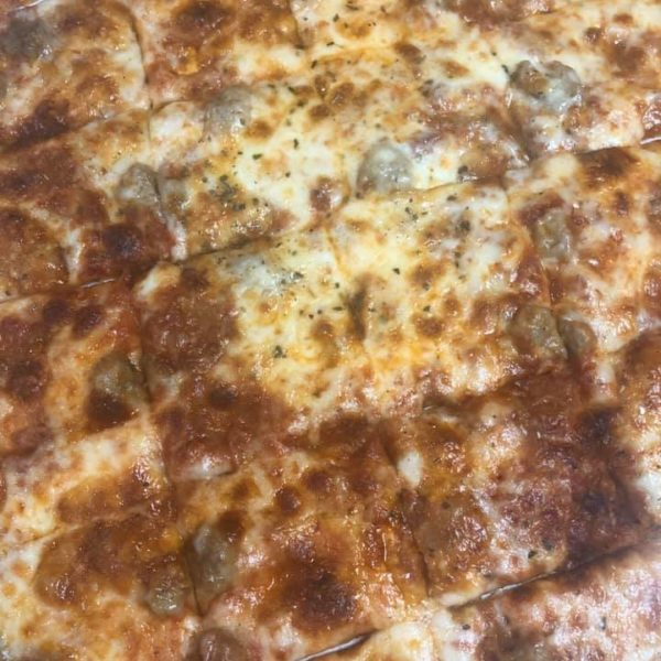 Pizza, fried pickles and Italian Beef rolls for dinner tonight! Thank you for offering pick up service during these times and for the great food and service! -Elia-
